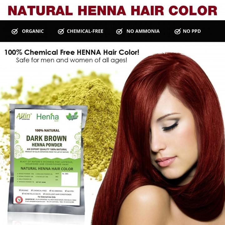 Dark Brown Henna Hair Color
